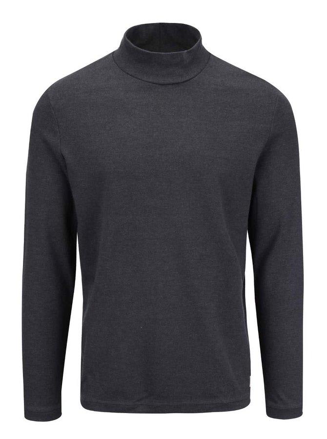 Bluză gri Selected Homme Jones cu guler înalt