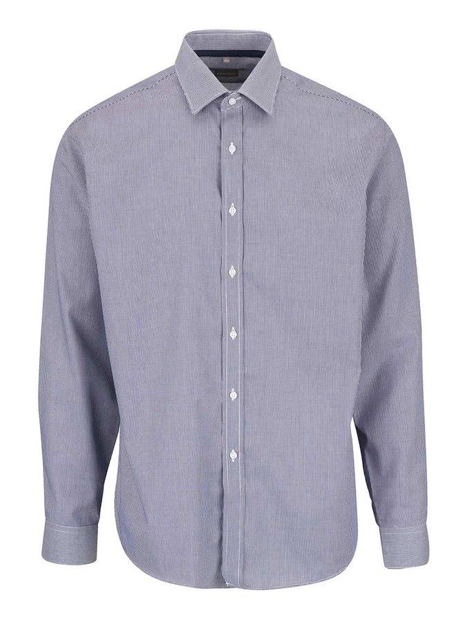 Tmavomodrá vzorovaná pánska košeľa Seven Seas