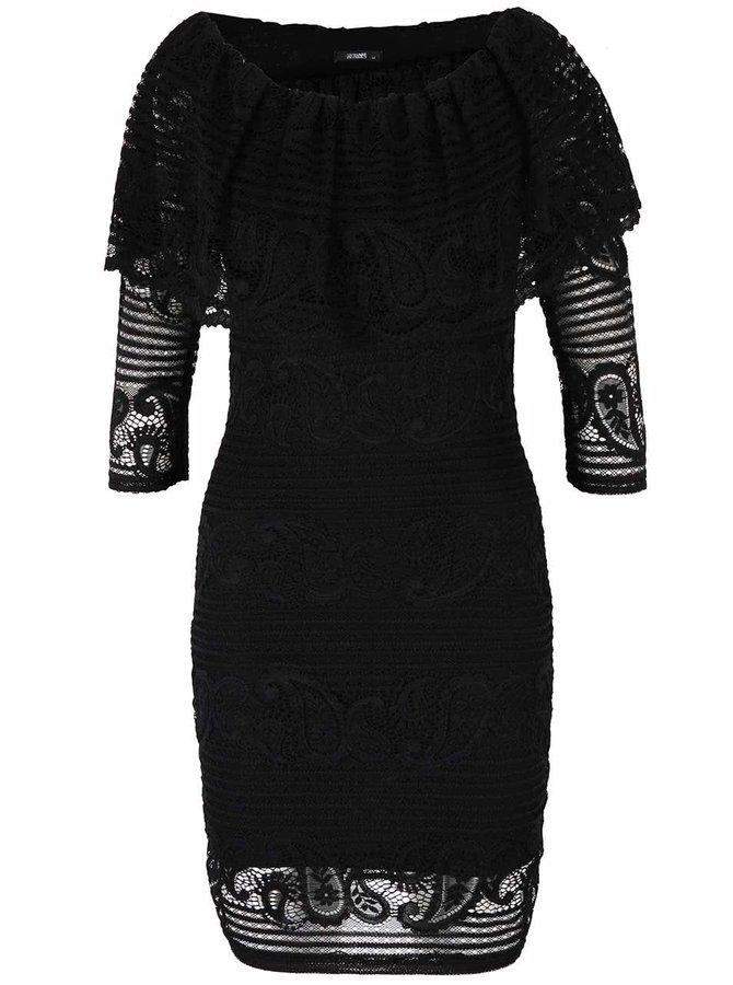 Rochie neagră Haily´s Marylyn din dantelă