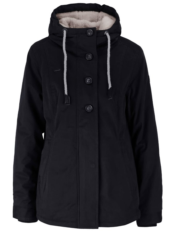 Černá dámská bunda na knoflíky Ragwear Lynx
