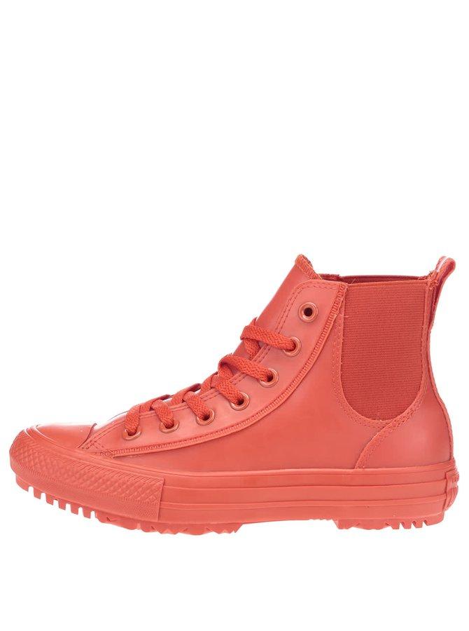 Červené dámske členkové tenisky Converse Chuck Taylor All Star Chelsea Boot
