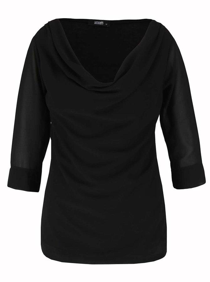 Bluză neagră Haily's Erena cu drapaje
