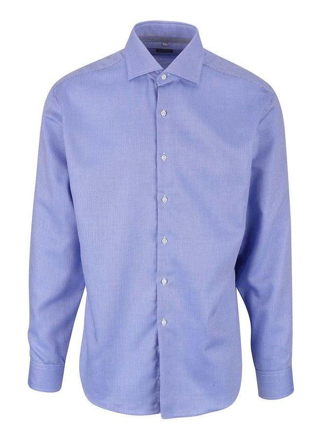Modrá formální košile s jemným vzorem Seven Seas