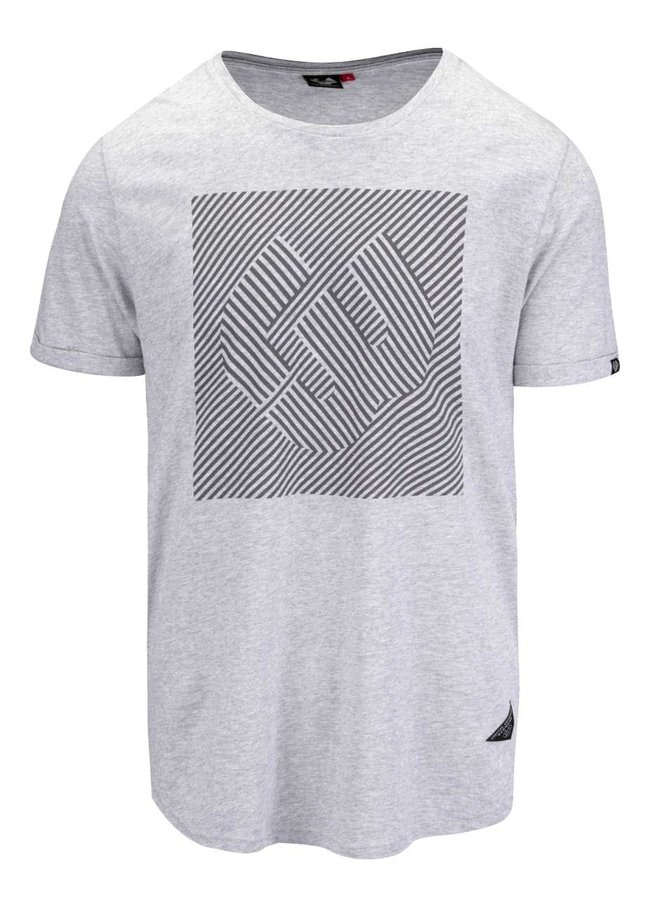 Sivé melírované pánske tričko s potlačou Ragwear Bartie