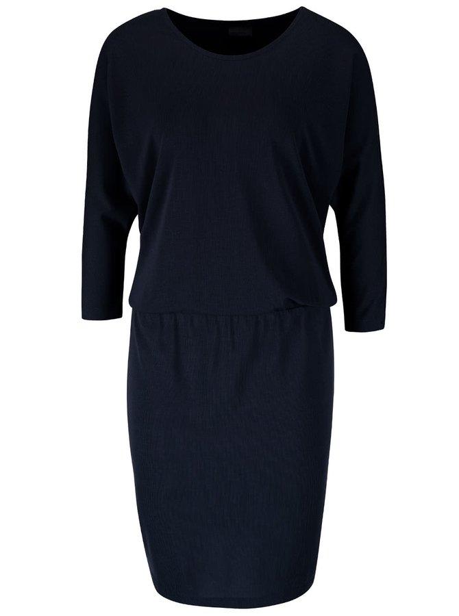 Tmavě modré šaty s 3/4 rukávy VERO MODA Orpo