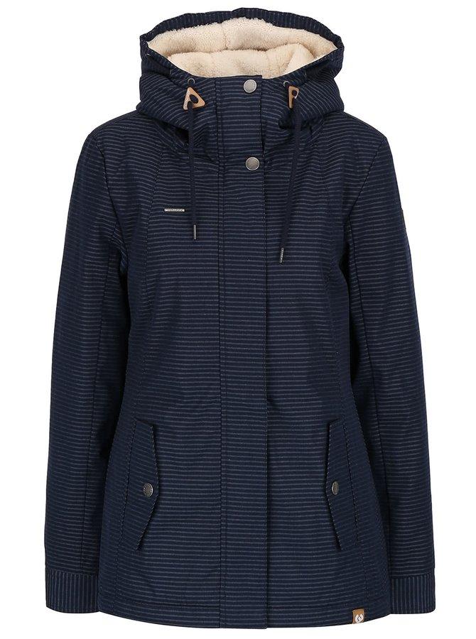 Tmavomodrá dámska bunda s kapucňou Ragwear Monade