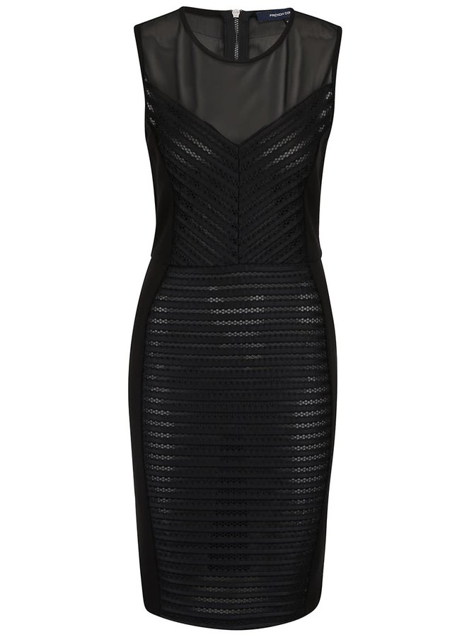 Rochie French Connection Score neagră