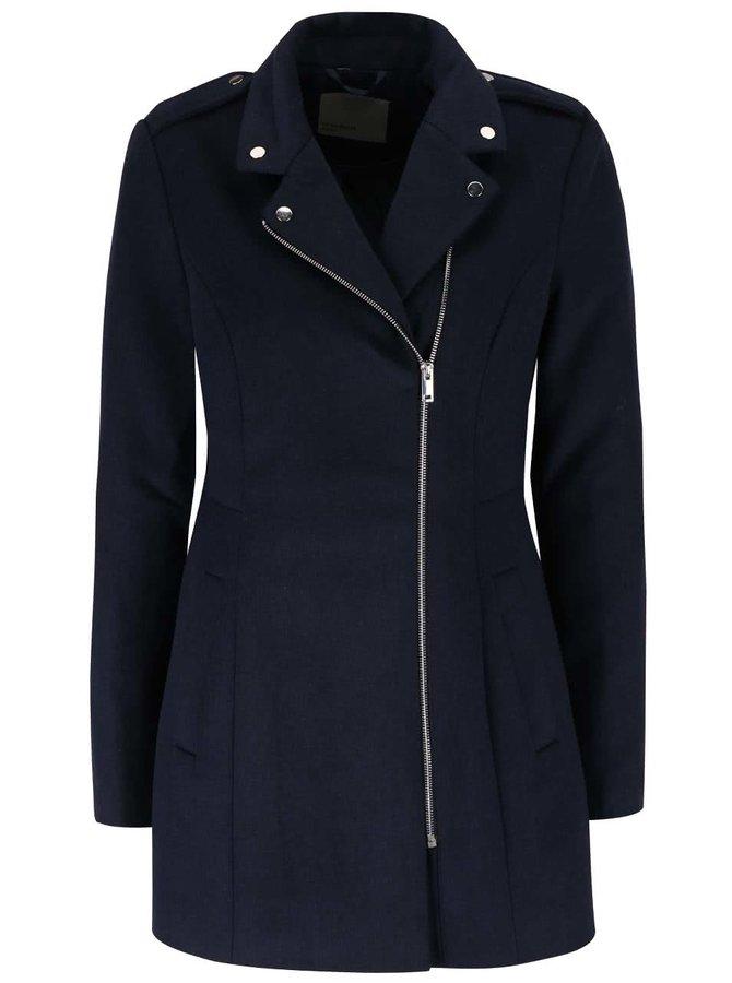 Tmavomodrý kabát so zipsom VERO MODA Turner