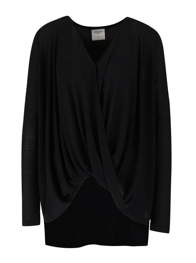 Bluză neagră VERO MODA Honie