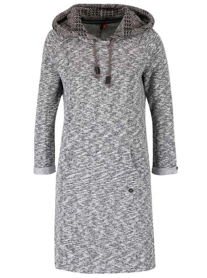 Rochie negru cu gri Ragwear Bess tip hanorac