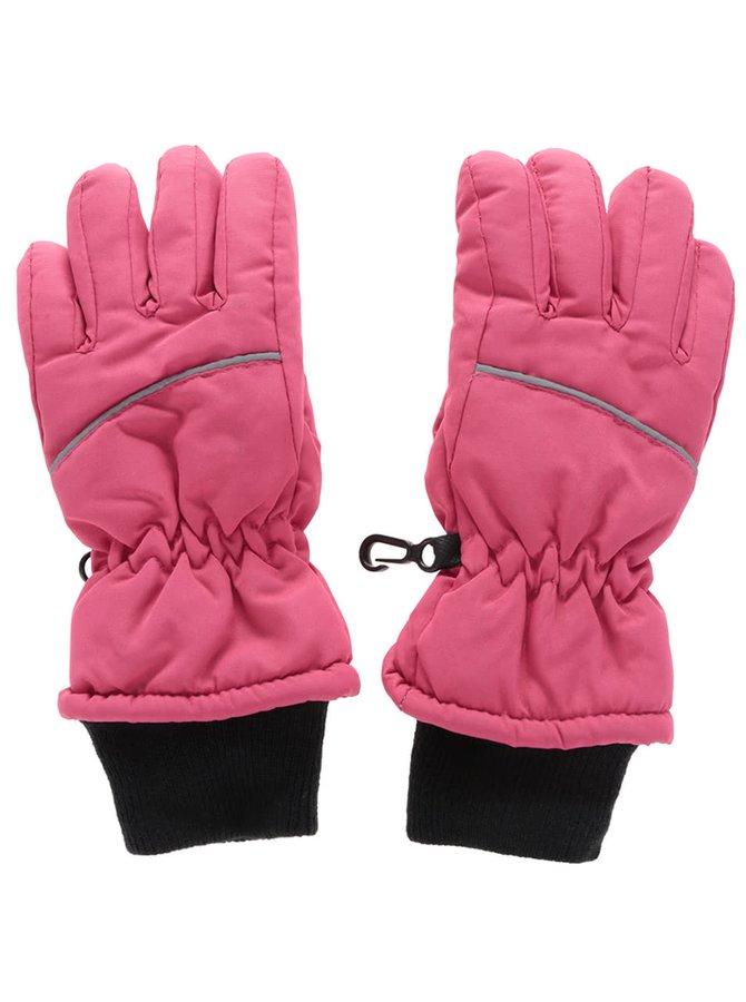 Ružové dievčenské zimné rukavice name it Moutlast