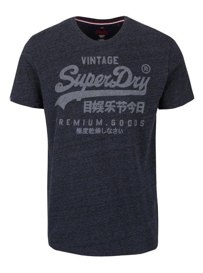 Tricou gri închis Superdry cu print text