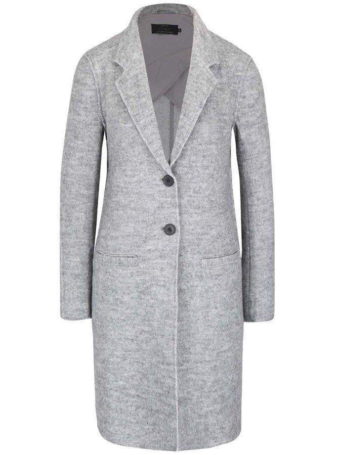 Světle šedý žíhaný lehký kabát ONLY Ella