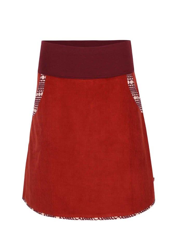 Tehlová menčestrová sukňa s elastickým pásom Tranquillo Batu