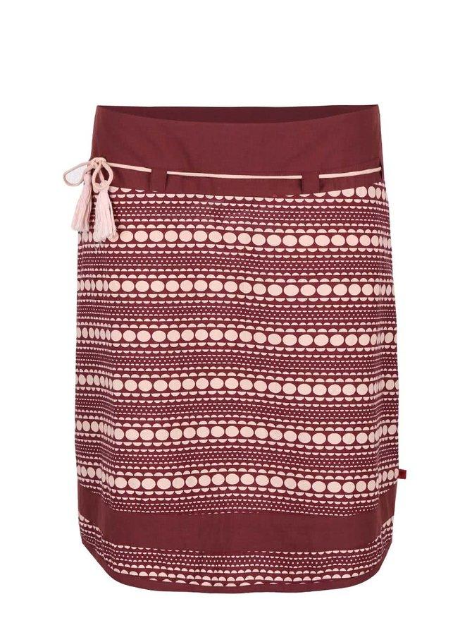 Ružovo-vínová vzorovaná sukňa Tranquillo Albom