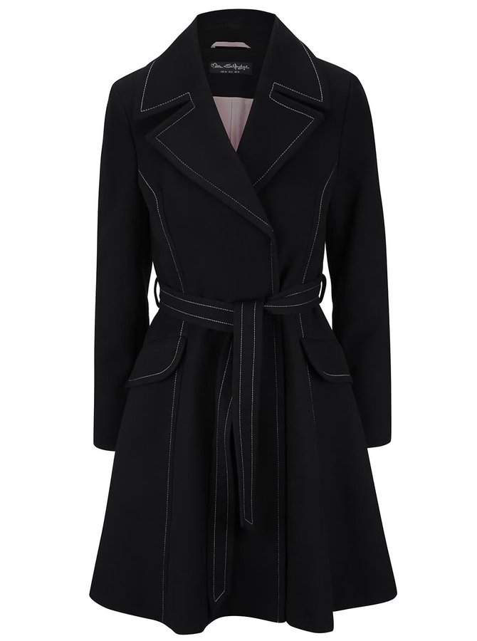 Palton negru Miss Selfridge