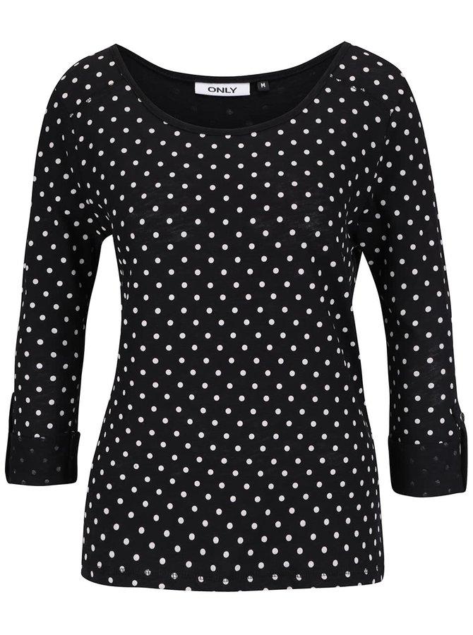 Bluză neagră ONLY Jess din bumbac cu imprimeu