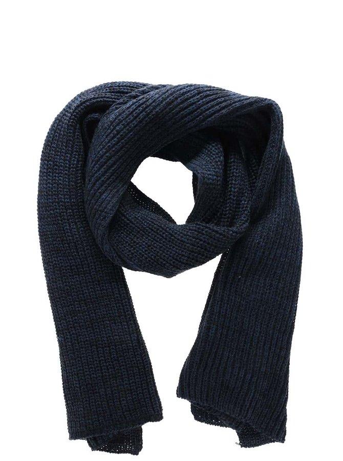 Tmavě modrá pletená šála Blend