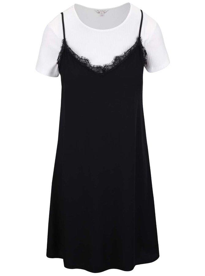 Bílo-černé šaty Miss Selfridge