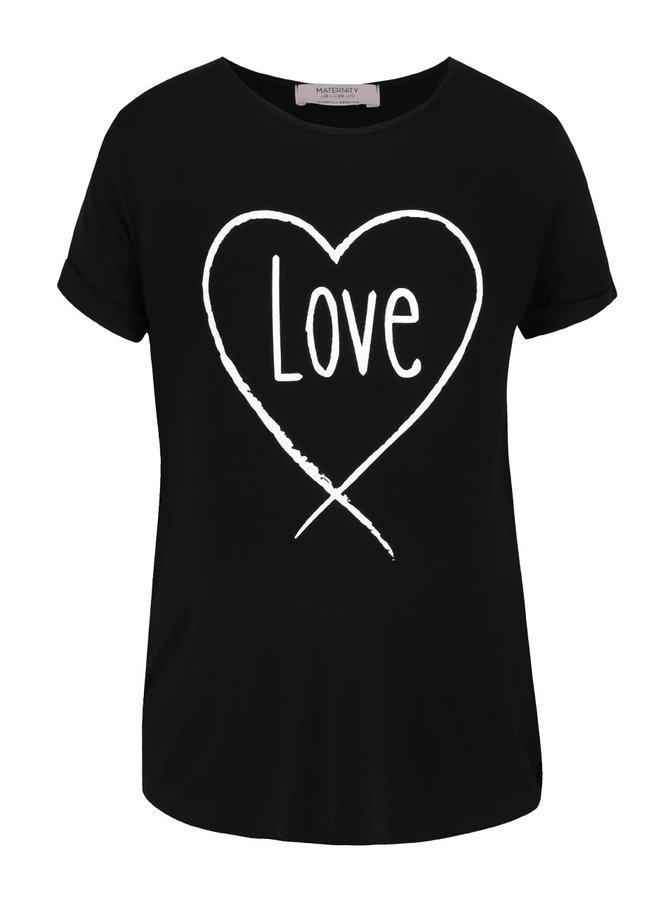 Tricou negru cu imprimeu Dorothy Perkins Maternity