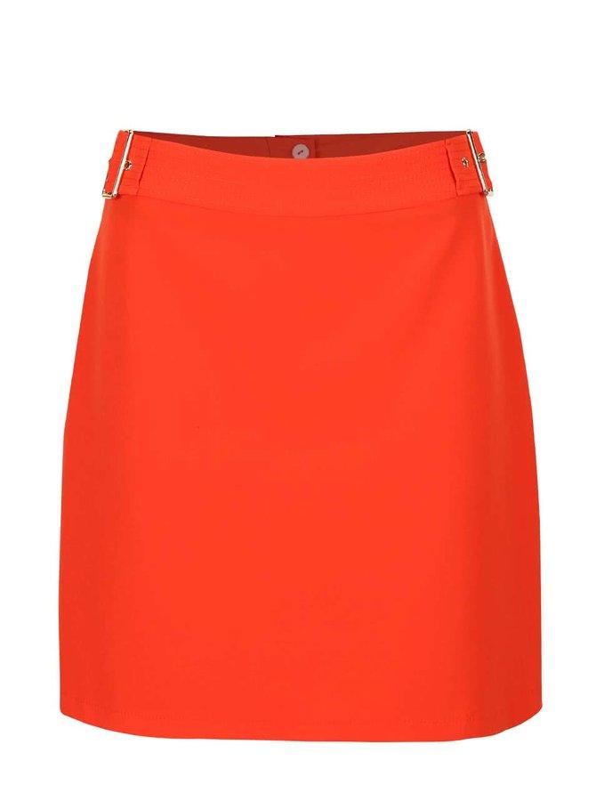 Oranžová sukňa so sponou v zlatej farbe Dorothy Perkins