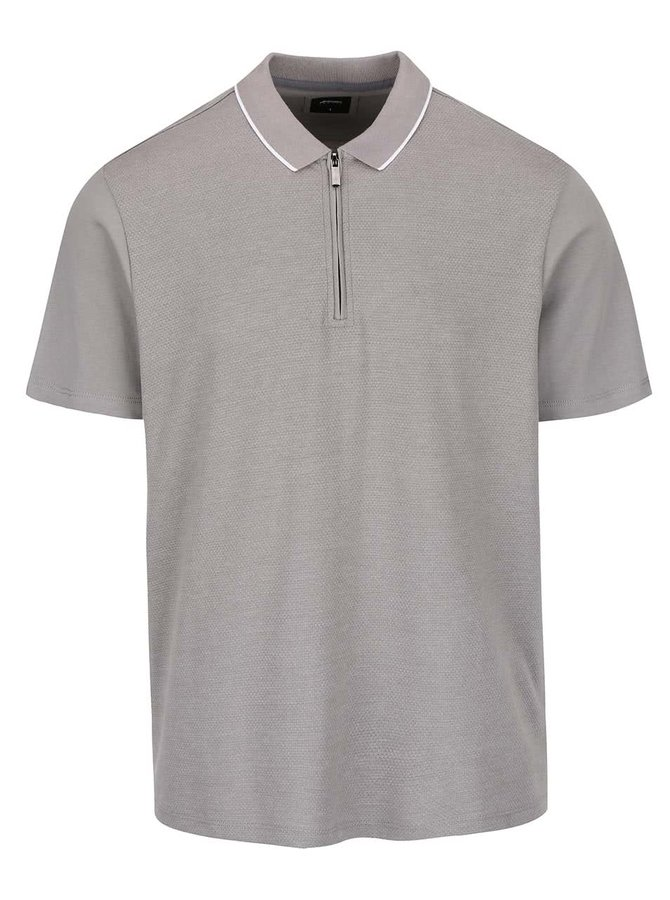 Sivá polokošeľa so zipsom Burton Menswear London