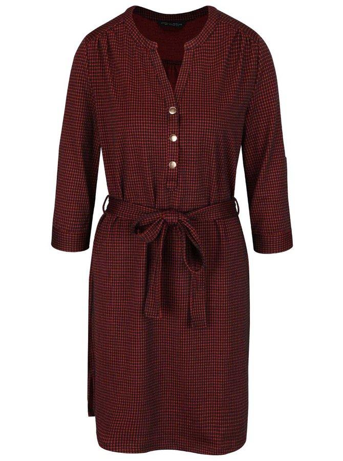 Černo-červené kostkované šaty s 3/4 rukávy Dorothy Parkins