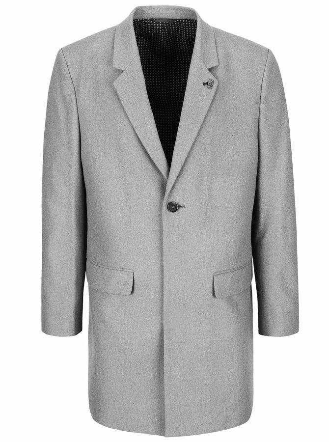 Svetlosivý kabát Burton Menswear London