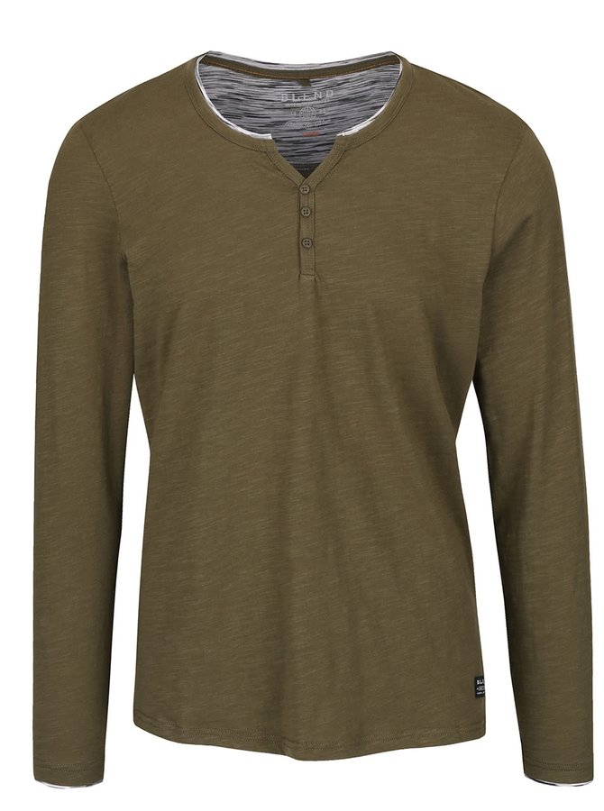 Bluză verde închis Blend din bumbac