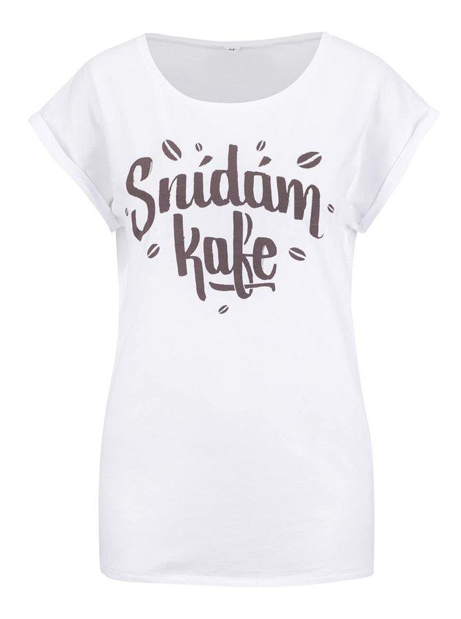 Bílé dámské tričko ZOOT Originál Snídám kafe