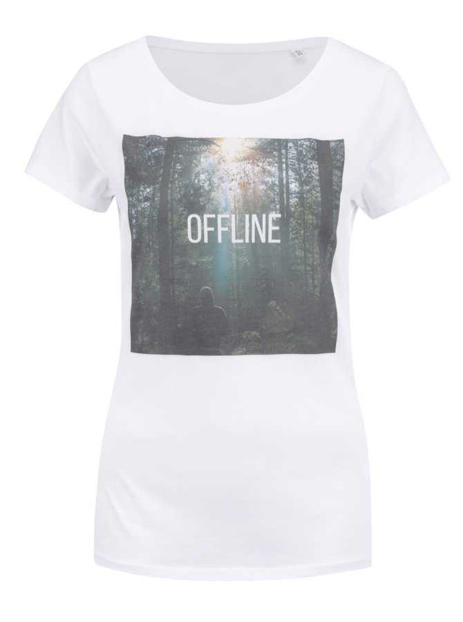 Biele dámske tričko ZOOT Original Offline