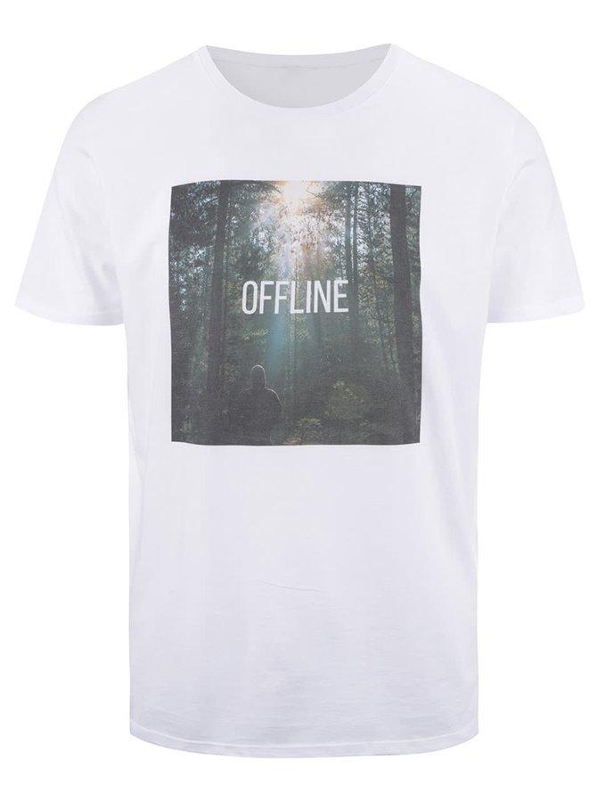 Biele pánske tričko ZOOT Originál Offline