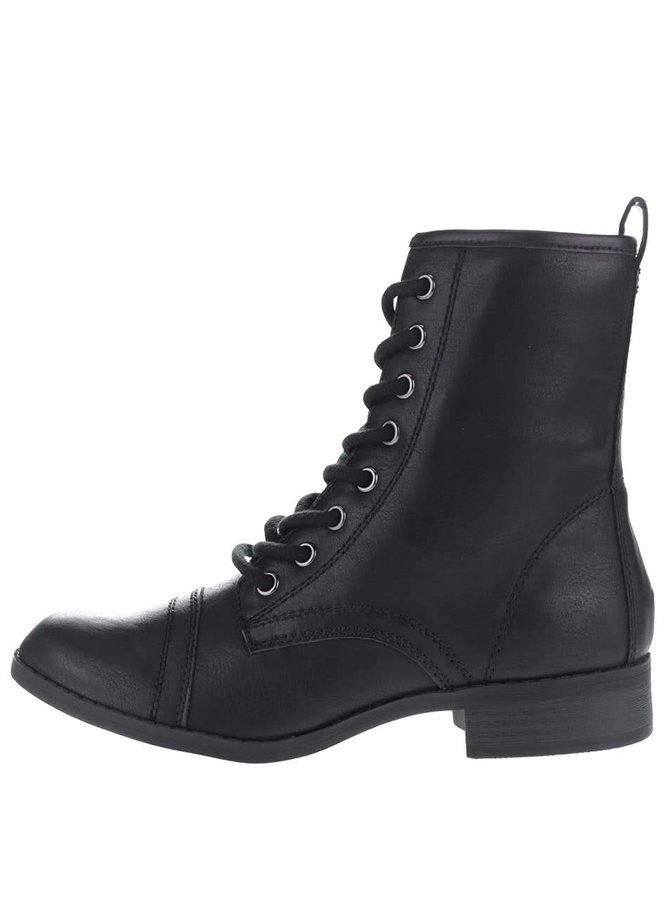 Čierne členkové topánky na šnurovanie Dorothy Perkins