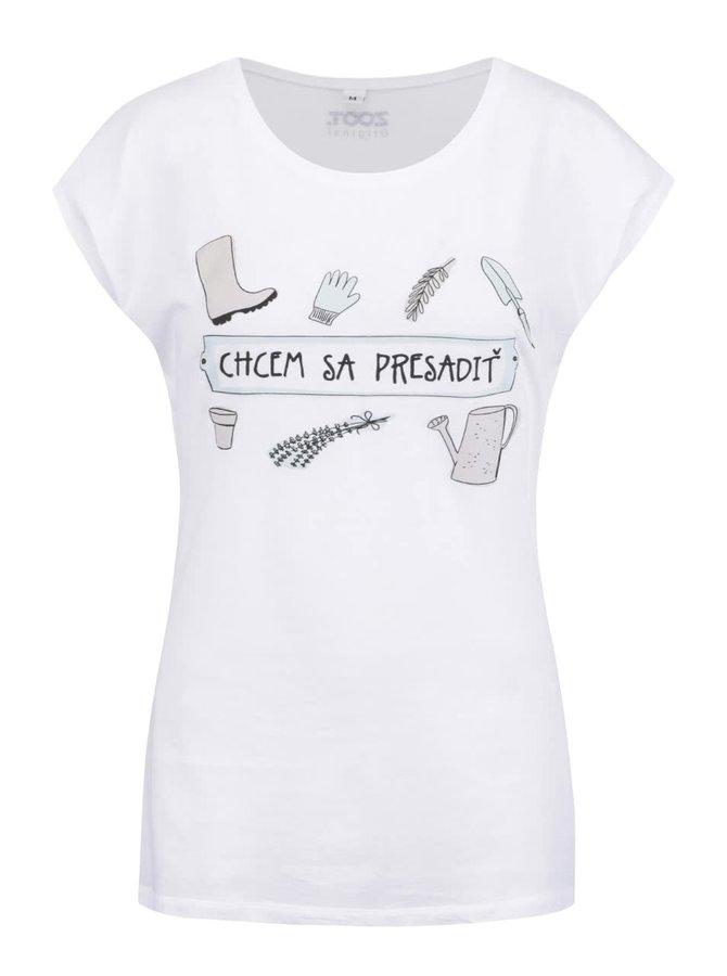 Biele dámske tričko ZOOT Original Chcem sa presadiť