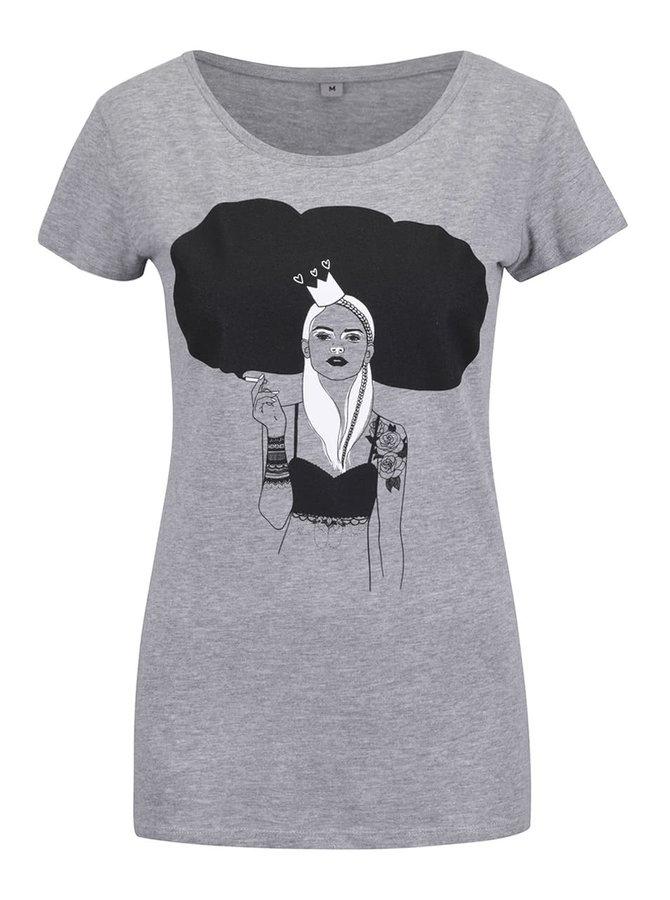 Šedé dámské tričko ZOOT Original Princezna