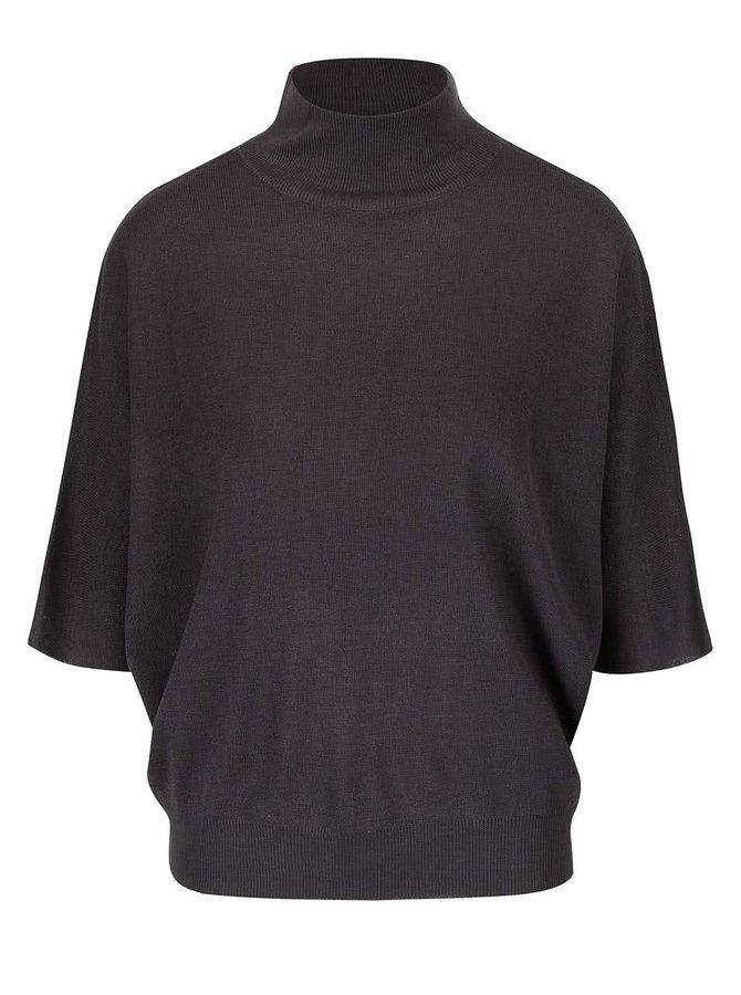 Tmavě šedý svetr s kimonovými rukávy YAYA