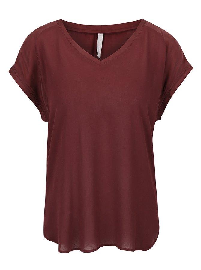 Bluză vișinie YAYA cu mânecă scurtă