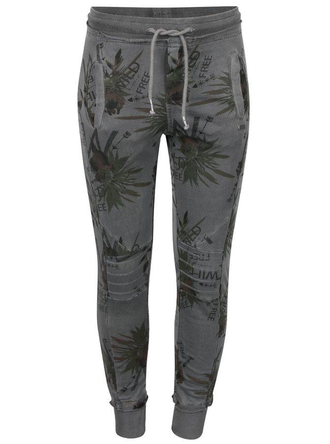 Tmavosivé dievčenské tepláky so vzorom Cars Jeans Imka