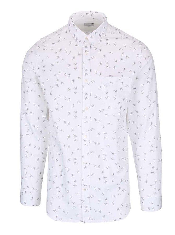Biela slim fit košeľa so vzorom Selected Homme One Karl