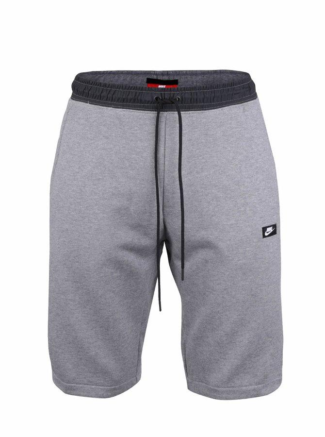 Sivé pánske teplákové kraťasy Nike Modern