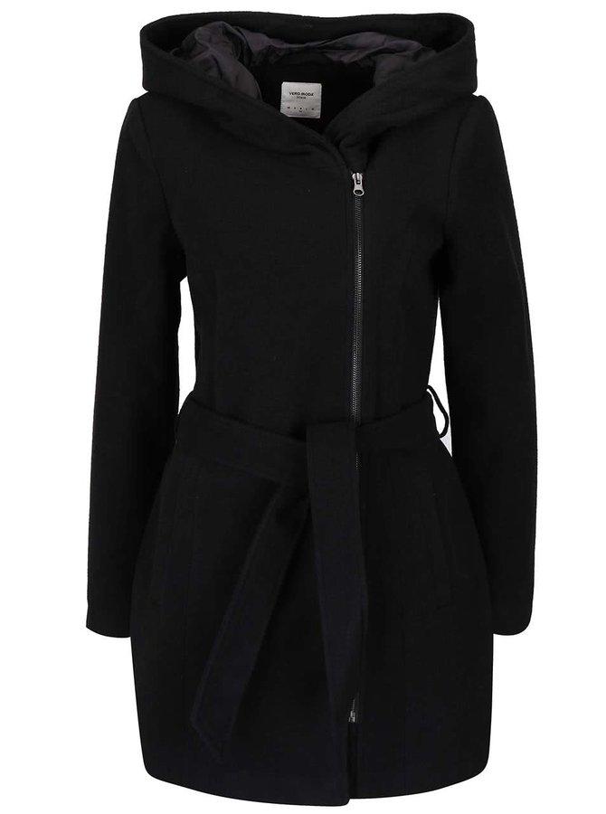 Palton negru  Vero Moda Joyce Daisy cu glugă