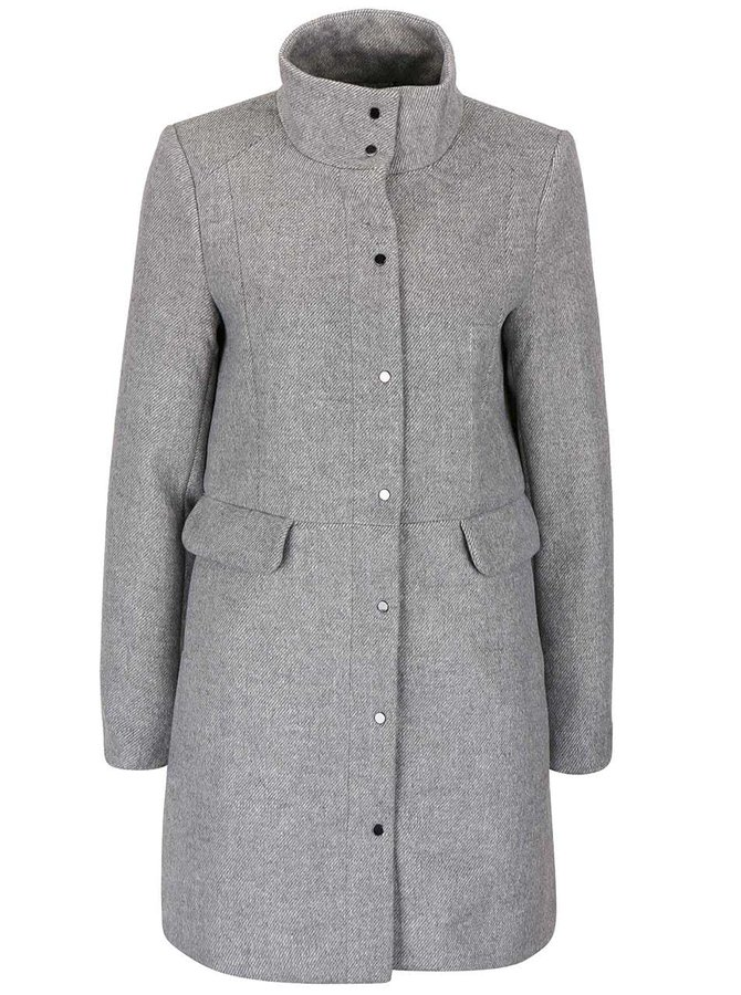 Palton gri deschis Vero Moda One Dope