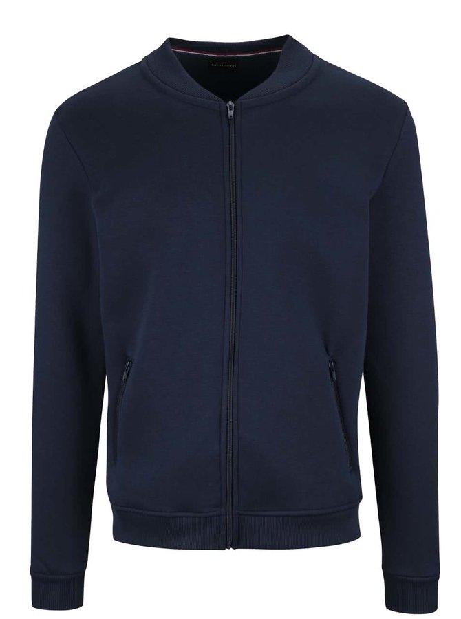 Bluză bleumarin Selected Homme Malte cu fermoar