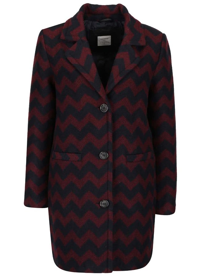 Palton vișiniu cu negru Vero Moda Zig