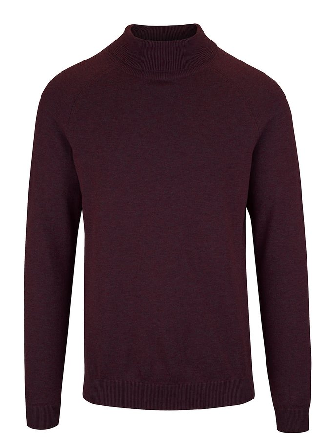 Pulover rosu burgundy Selected Homme Adam