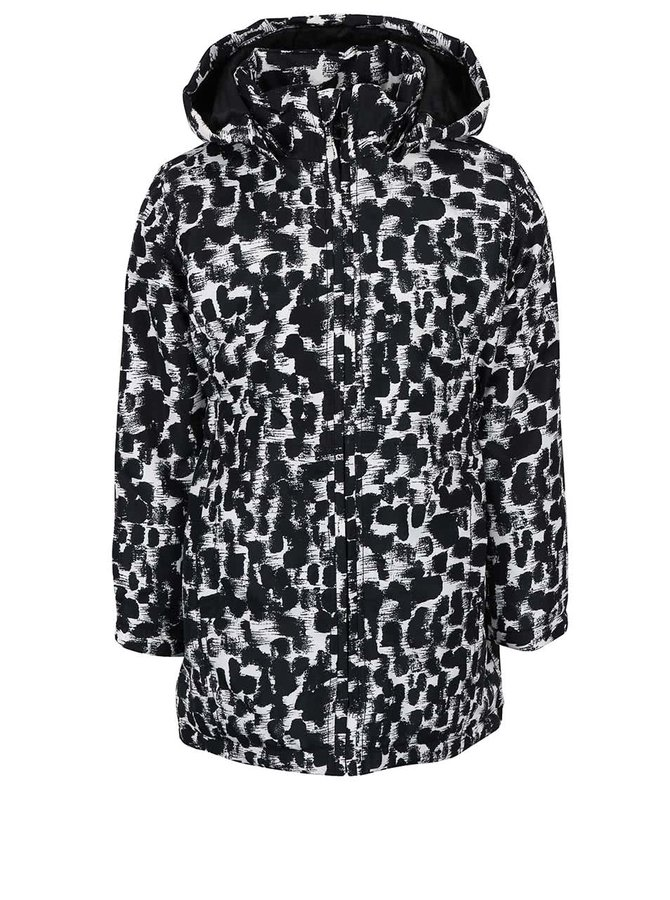 Jachetă neagră & albă Name it Mello cu imprimeu