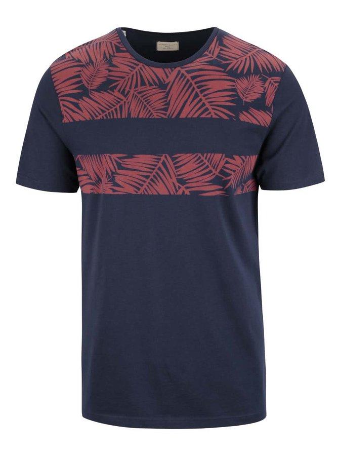 Tmavě modré triko se vzorem Selected Homme Nicolas