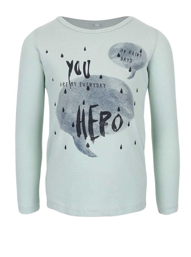 Mentolové holčičí tričko s potiskem name it Veen