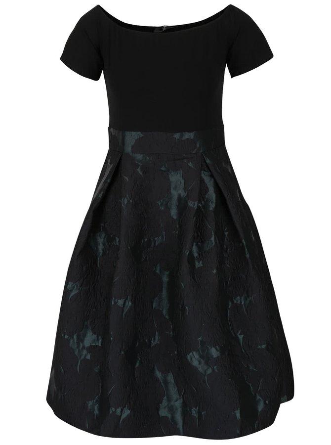 Černozelené šaty se vzorem AX Paris