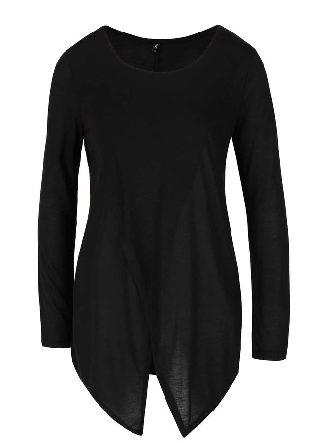 Černé tričko s cípy ONLY Palma